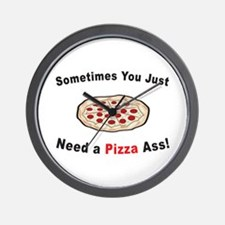 Pizza Ass! Wall Clock