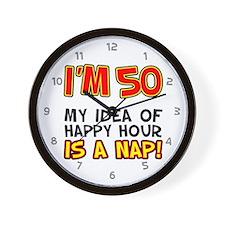 Im 50 Happy Hour Wall Clock
