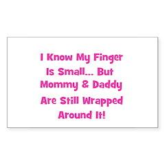Mommy & Daddy Wrapped Around Sticker (Rectangular