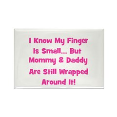 Mommy & Daddy Wrapped Around Rectangle Magnet