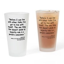 Lee Conscience Quote Drinking Glass