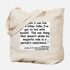 Lee Conscience Quote Tote Bag