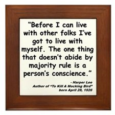 Lee Conscience Quote Framed Tile