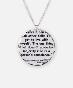 Lee Conscience Quote Necklace