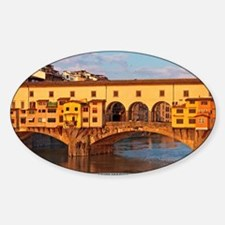 Florence - Morning at Ponte Vecchio Sticker (Oval)