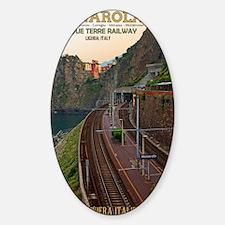 Cinque Terre Railway - Manarola Sticker (Oval)