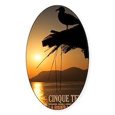 Cinque Terre Sunset Decal