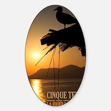 Cinque Terre Sunset Sticker (Oval)