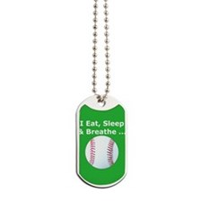 Baseball Eat Sleep Breathe Iphone3 Hard C Dog Tags