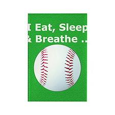 Baseball Eat Sleep Breathe Iphone Rectangle Magnet