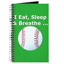 Baseball Eat Sleep Breathe Iphone3 Hard Ca Journal