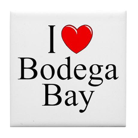 """""""I Love Bodega Bay"""" Tile Coaster"""