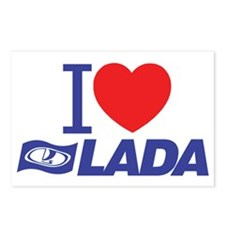I love Lada Postcards (Package of 8)