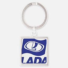 Lada Logo Square Keychain