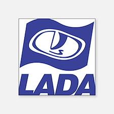 """Lada Logo Square Sticker 3"""" x 3"""""""