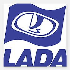 """Lada Logo Square Car Magnet 3"""" x 3"""""""
