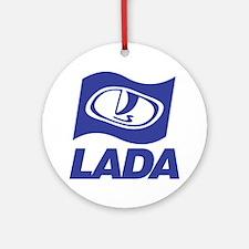 Lada Logo Round Ornament