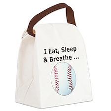 Baseball Eat Sleep Breathe Iphone Canvas Lunch Bag