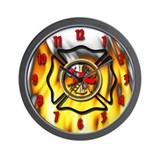 Firefighter clock Wall Clocks