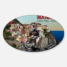 Manarola Town Sticker (Oval)