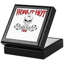 work it hot Lineman logo 3 Keepsake Box