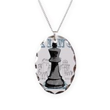 RB chess shirt king blk Necklace