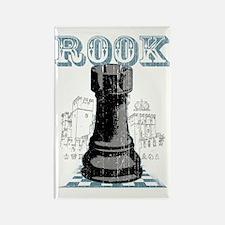 RB chess shirt rook blk Rectangle Magnet