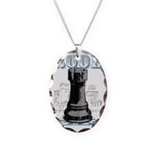 RB chess shirt rook blk Necklace
