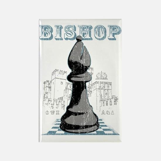 RB chess shirt bishop blk Rectangle Magnet