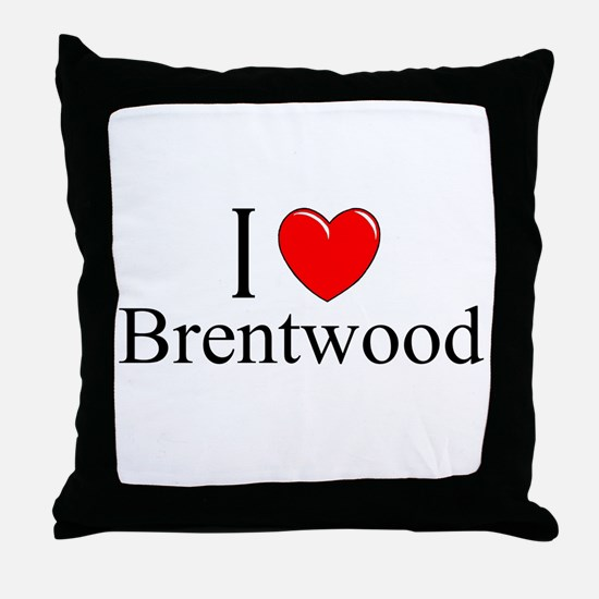 """""""I Love Brentwood"""" Throw Pillow"""