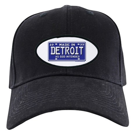Made in Detroit 1977 License Black Cap
