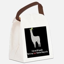 Llamas-D2r-Buttons Canvas Lunch Bag