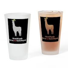 Llamas-D2r-Buttons Drinking Glass