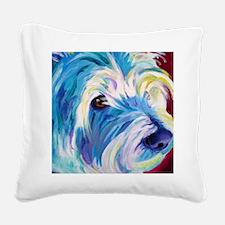 westie - da - P Square Canvas Pillow