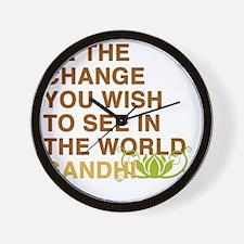 gandhi_flower Wall Clock