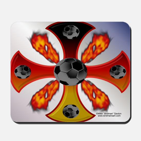 German Soccer Cross Mouse Pad