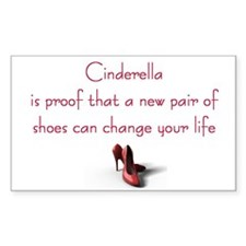Cinderella is Proof Rectangle Decal