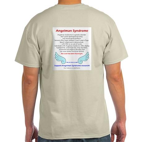 Angelman Facts (backprint) Ash Grey T-Shirt