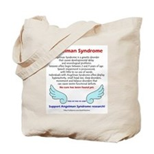 """Angelman Facts"" Tote Bag"