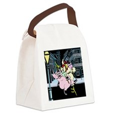 New Orleans After Dark Canvas Lunch Bag