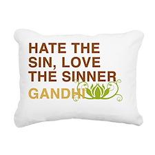 gandhi_flower_5 Rectangular Canvas Pillow