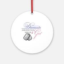 Diamonds Round Ornament