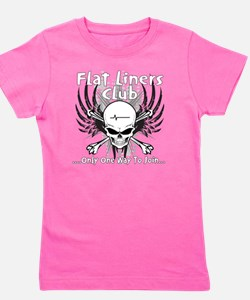flatliner club back Girl's Tee
