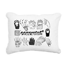 concrete5_paws_small Rectangular Canvas Pillow