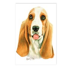 Basset Hound 3 Postcards (Package of 8)
