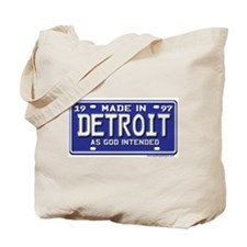 Made in Detroit 1997 Plate Tote Bag