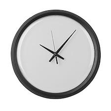 FDlogo_darkfab Large Wall Clock