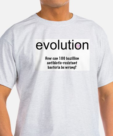 Evolution - bacteria Ash Grey T-Shirt