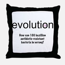Evolution - bacteria Throw Pillow