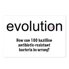 Evolution - bacteria Postcards (Package of 8)